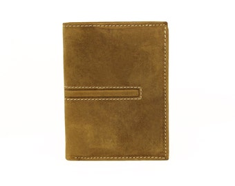 Mens Wallet Brown Genuine Leather Handmade Sirocco-4018LB