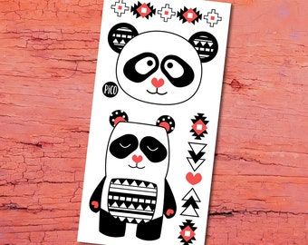 Temporary Tattoos - Pandas