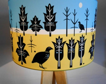 Morning and Evening,large contemporary designer lampshade