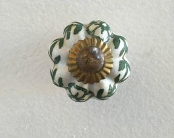 Vintage ceramic drawer knobs