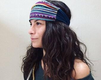 Yoga Headband | Native Headband | Handmade Headband | Recycled Headband | Multiple Color | Running Headband | Boho | Aztec | Head Bandana