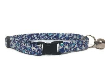 Cat Collar, Blue and Purple Splatter