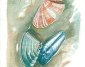 Set of 3 Watercolor Prints