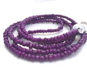 purple lanyard, purple beaded lanyard, key lanyard, badge holder, key holder, teacher lanyard, cute lanyards, lanyard necklace, purple