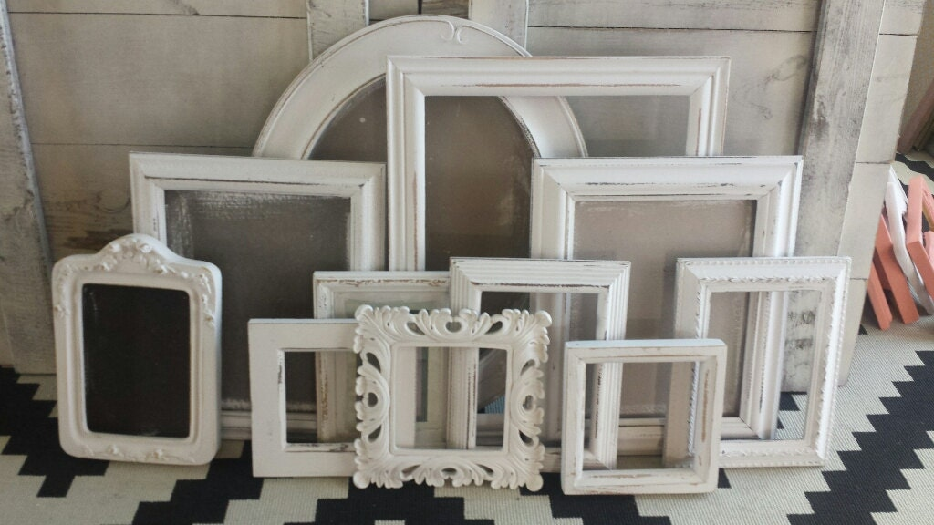 3000 - Distressed White Picture Frames