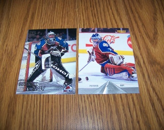 2 Patrick Roy (Colorado Avalanche) Hockey Cards