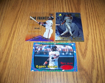 3 Vintage Barry Bonds (San Francisco Giants) Insert Baseball Cards