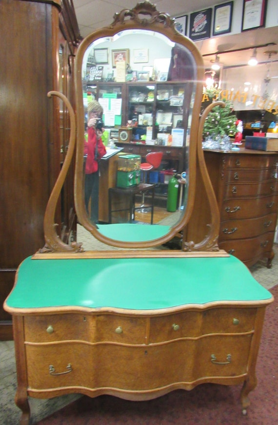 Birdseye Maple Dresser and Mirror