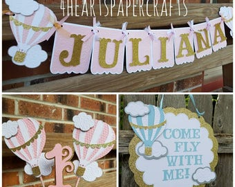 Hot Air Balloon Birthday Decorations Package