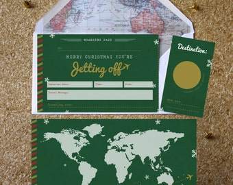 Personalised You're Jetting Off Christmas Scratch Boarding Pass