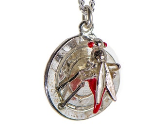 Sterling Silver Mosquito Pendant