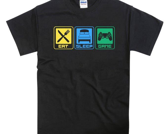 Eat Sleep Game Playstation PS4 Tshirt