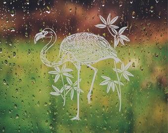 Wonderful Flamingo Ocean DIY Etched Glass Vinyl Privacy Film Glass Door Decals  Sliding Door Decal Door Stickers