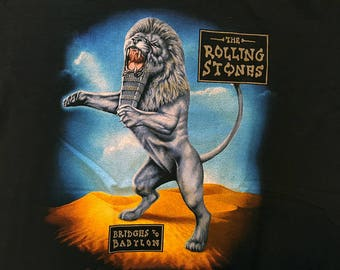 Vtg 90s Rolling Stones Bridges To Babylon Tour T Shirt 1997 1998