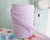 Lavender Stripe Double Fold Crochet Edge Bias Tape (No. 112)