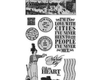 Graphic 45 CITYSCAPES 1 Cling Stamps IC0353S 1.cc55