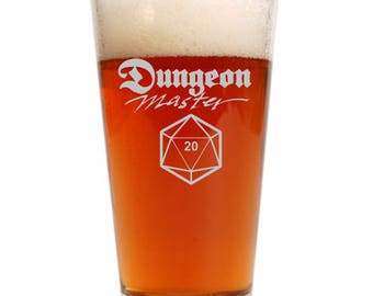 Dungeon Master DM gift glass, I don't need a reason I'm the DM, DnD, D&D, Dungeons Dragons gift, DM present, d20 die dice, critical hit