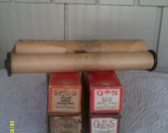 Seven Vintage QRS Player Piano Word Rolls, Player Piano Music Rolls, True Love, Smiles, Smoke Rings, Good Night Sweetheart