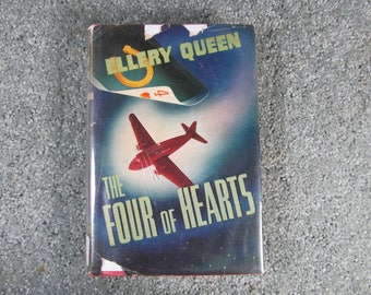 The Four of Hearts by Ellery Queen, vintage hardback