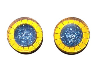 Supernova Glitter Stud Earrings