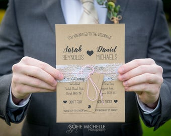 Rustic Wedding Invitation - Sample Pack