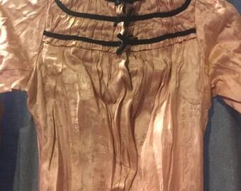 Collectable Antique Silk Bodice/Corseted Blouse