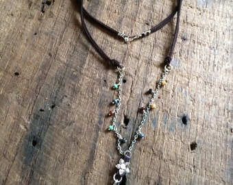 Rustic Flower Garden necklace