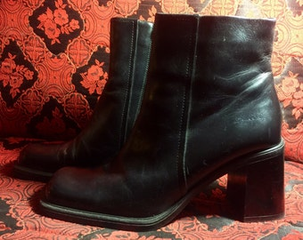 90s Aldo Square Toe Chunky Heal Ankle boot