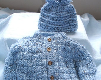 Custom hand knit boys sweater set Original design by kids knits 1