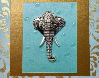 Elegant Protective Elephant~Post It Note Holder
