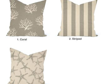 One high quality home decor cover, Nautical Pillow, decorative throw pillow, decorative pillow, accent pillow,  Throw Pillow, Tan Pillow