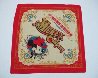 Vintage Mickey Mouse Disney Handkerchief