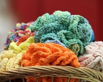 Large 100% Cotton, Crochet Bath Puff, Crochet Loofah, Shower Pouf, Loofah