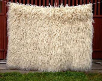 Flokati teppich  Flokati Wolle Teppich 100 % reine organische handgewebte