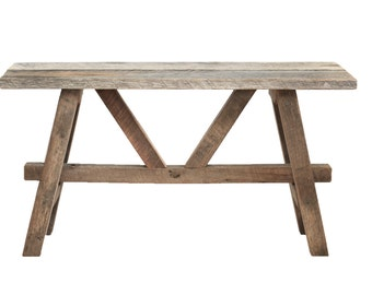 Rustic bench – Reclaimed wood bench – Barn wood entryway furniture – Mud room seat  – Country cottage home décor