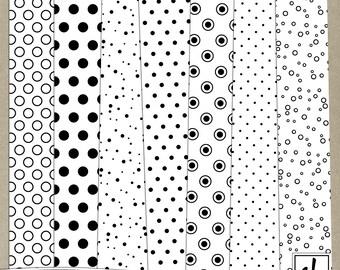 Digital Paper - Pattern Overlays - Digital Patterns - Polka Dot Overlays - Polka Dot Patterns - Polka Dot Paper - Instant Download - CU OK