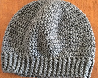 The Uxbridge Beanie - Gray colored slouchy beanie, hat, winter accessory, perfect gift for women, men, teens, mom, dad, daughter, son