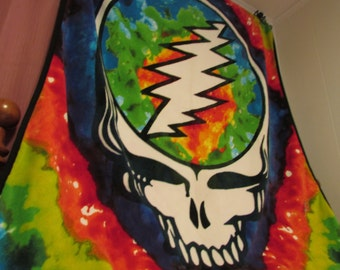 Fleece Blanket/ Stealie Fleece Blanket/ Grateful Dead Fleece Blanket/ Tie-Dye Fleece Blanket/ Grateful Dead Blankets/ Easy Wind Family