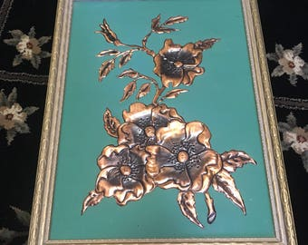 KITSCHY retro Pressed copper flowers