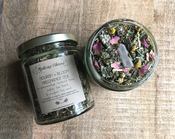 Nourish and Bloom Pregnancy Tea Organic herbal Pregnancy Tea