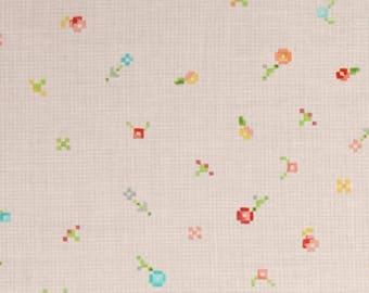 Liesl Gibson - Robert Kaufman - Designer Pink fabric - Woodland Clearing Flower