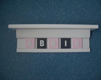Wonderful Personalised childrens shelf unit