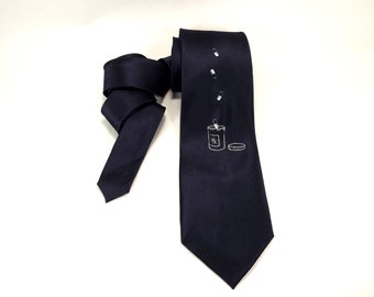 RX tie, pharmacist tie, Navy blue, silver pills, docter tie, chemist tie, pharmacy tie, medicine tie, drugs, mens, womens, graduation gift