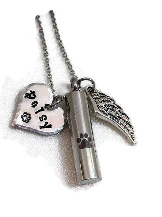 Pet cremation urn pet cremation necklace ashes for Cremation jewelry for pets ashes