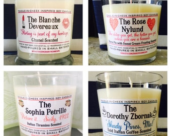 Golden Girls Candles-set of 4- Thank You for being  friend- Scented Soy Candle- Golden Girls Gift- Mother's Day Gift- BFF GIFT