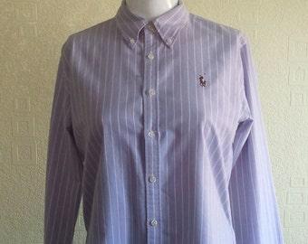 Vintage 1990s Lilac Ralph Lauren Slim Fit Womans shirt Ralphie