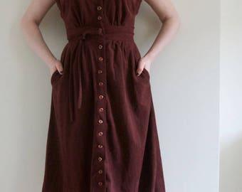 Maroon Midi-Dress Size S