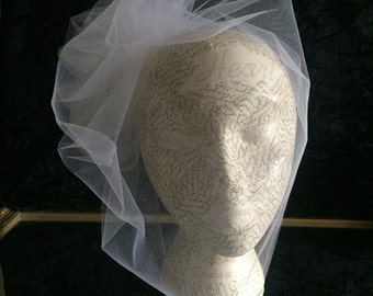 Birdcage Bubble Blusher with Tulle Rosette Fascinator