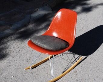 Terra Cotta (rare color) Eames Rocker Fiberglass chair