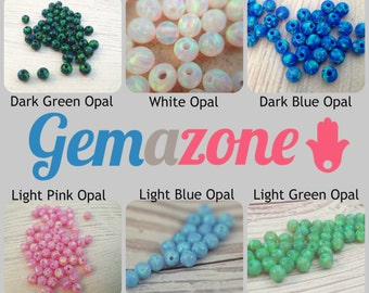 4MM opal beads Set / round opal beads / Loose opal beads / mix opal colors / 60 pcs / October birthstone / Jewelry making / Wholesale LOT